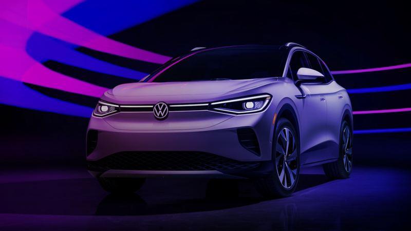 Front View of White Metallic Volkswagen ID.4