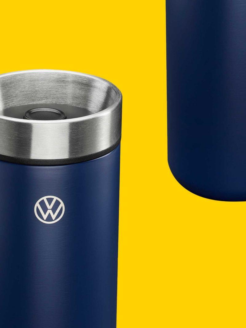 Thermos in acciaio originale Volkswagen con logo VW.