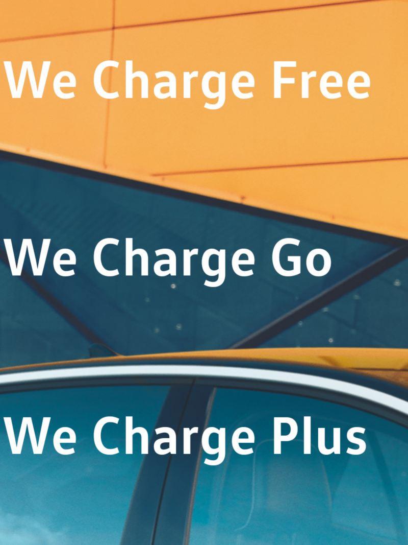 WeChargeFree, ne payez que ce que vous rechargez; WeChargeGo, pour les recharges occasionnelles en déplacement; WeChargePlus, pour les recharges fréquentes et les longs trajets