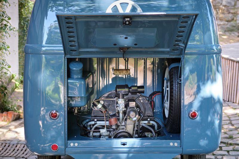 O motor da Transporter Sofie.