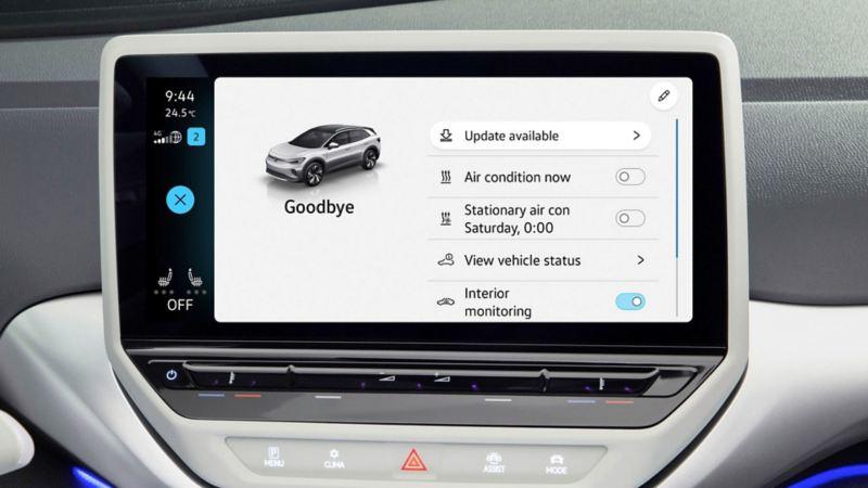 VW ID.4 programvareoppdatering over the air
