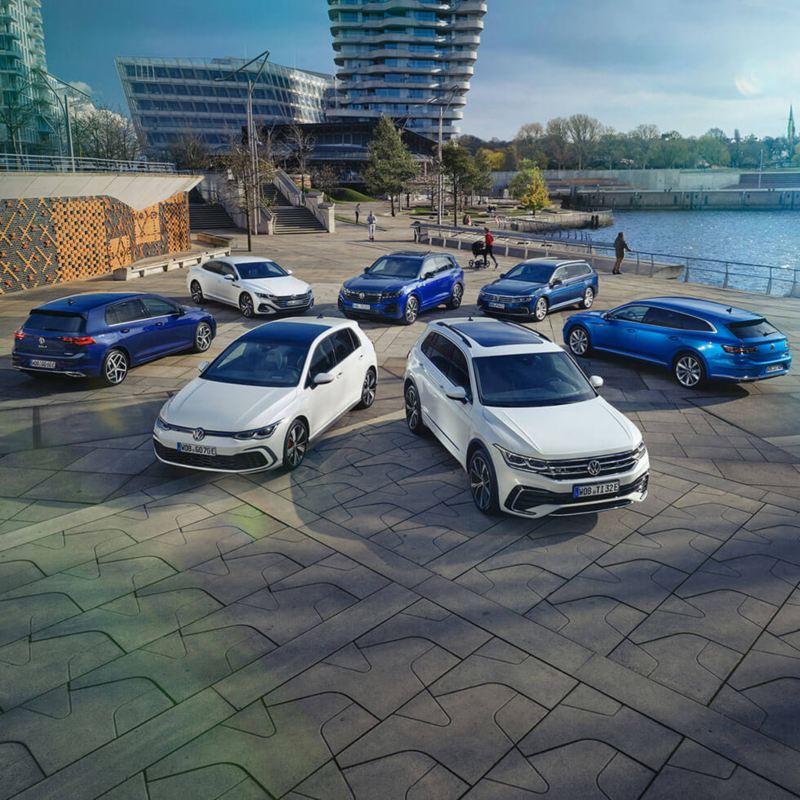 Visuel de différents véhicules Volkswagen