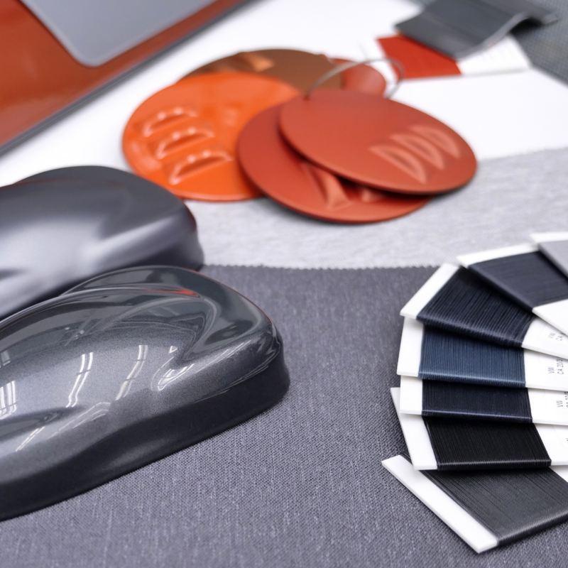 Dettaglio dei materiali utilizzati nella produzione della Volkswagen ID.3.