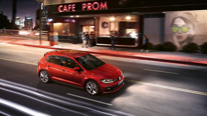 Polo GTI in red, in motion