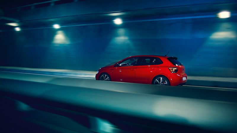 Polo GTI driving at night