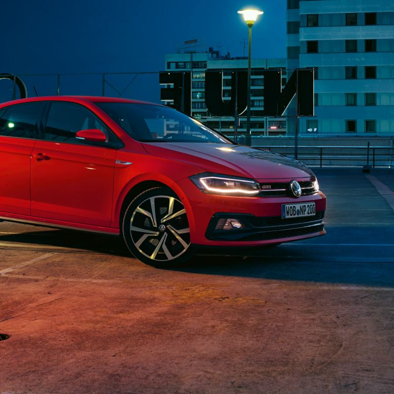 Polo GTI parked on rooftop