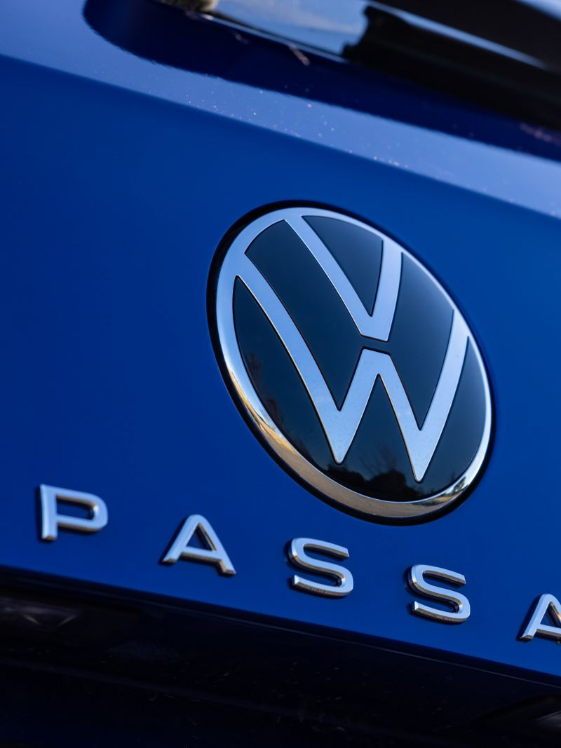 Close up of Volkswagen Passat Wagon rear badge