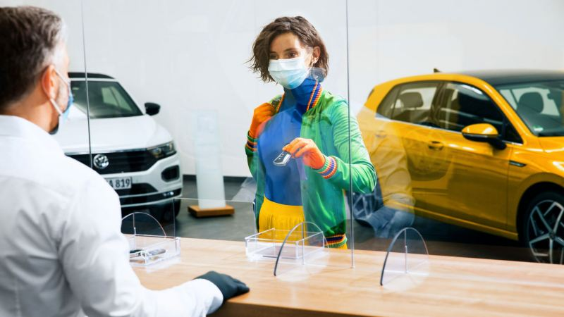 Volkswagen's personalised service check-in