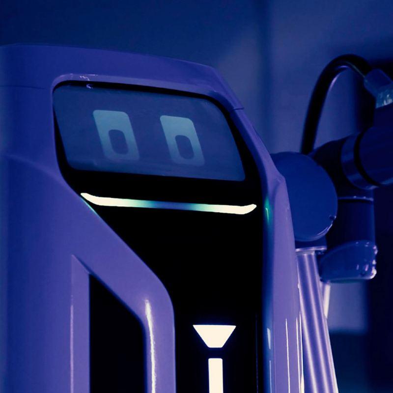 Imagen de robot de carga de Volkswagen para alimentar autos eléctricos