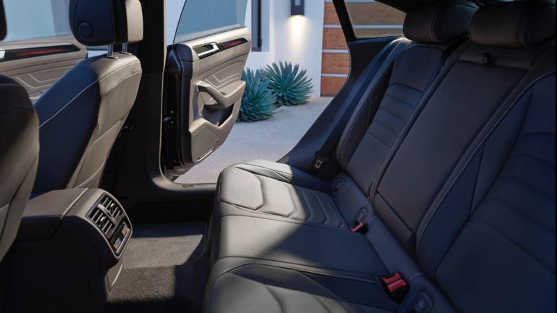 The spacious rear interior of the 2021 Arteon