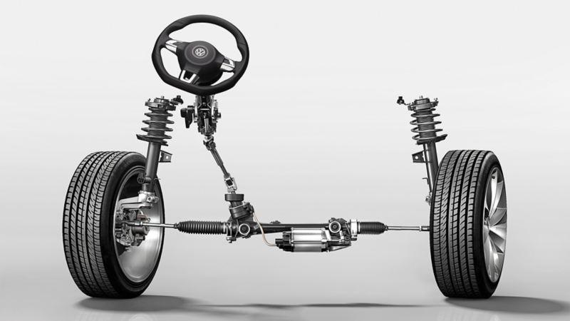 Ilustracja wspomagania zależnego od prędkości w VW Scirocco