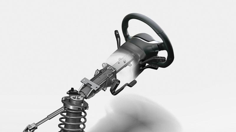 Bezpieczna kolumna kierownicy w VW Scirocco