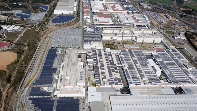 Blick von oben auf das SEAT Werk in Spanien