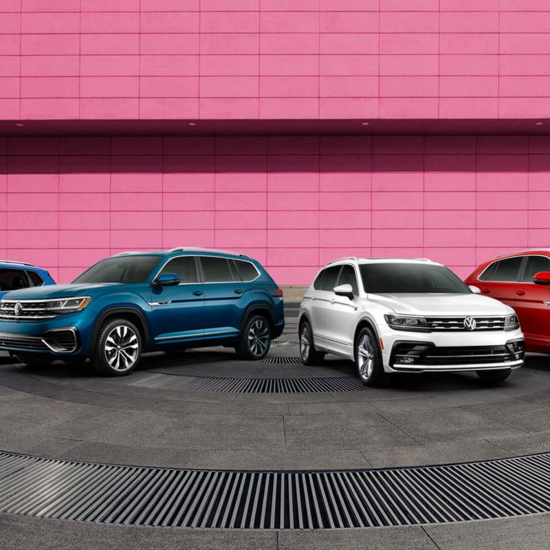 The Volkswagen SUV family: Atlas, Atlas Cross Sport, Tiguan and Taos