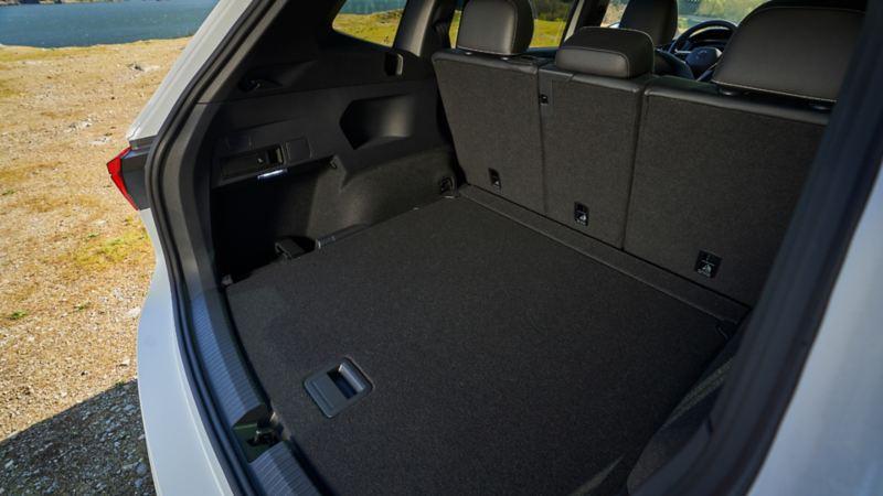 2022 VW Tiguan cargo space with folding rear seats