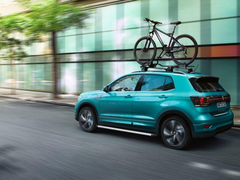 VW T-Cross driving with Genuine Volkswagen Accessories