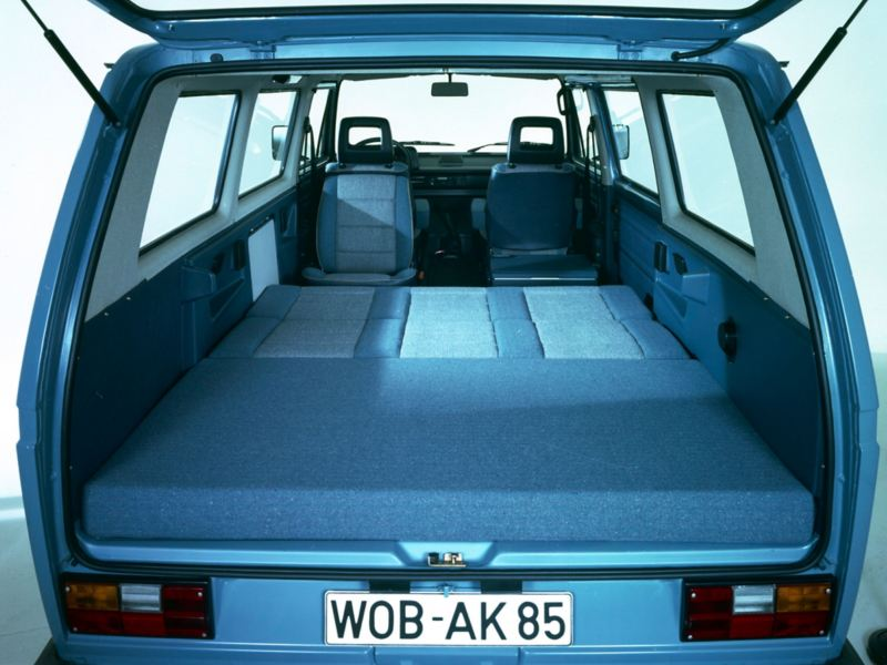 A cama da VW Multivan clássica.
