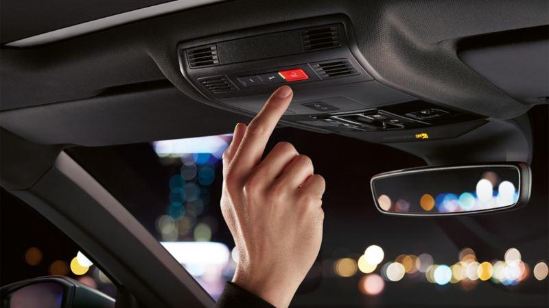 Przedstawienie nadzorowania wnętrza w VW Scirocco