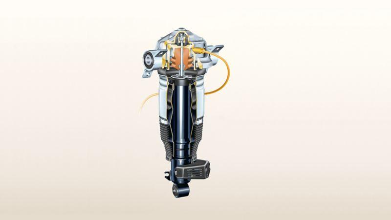 Ilustracja zawieszenia pneumatycznego Volkswagena