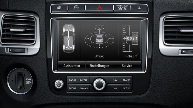 Nawigacja Offroad w komputerze pokładowym VW Touarega