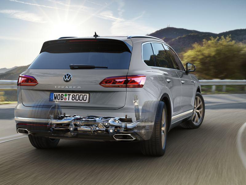 Graphique transmission intégrale en option dans le VW Touareg
