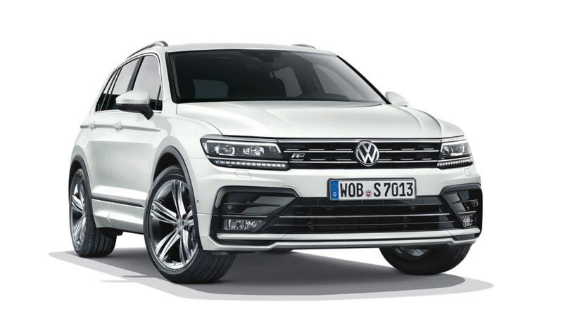 VW Tiguan od przodu z oponami samouszczelniającymi