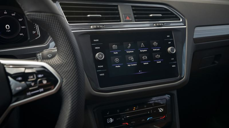2022 VW Tiguan with Apple CarPlay®, Android Auto