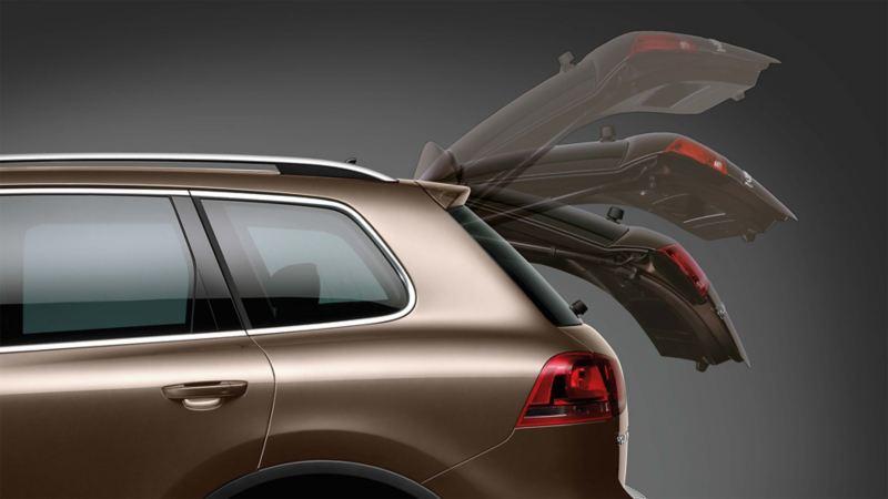 Schematyczne przedstawienie elektrycznie otwieranej pokrywy bagażnika Volkswagena