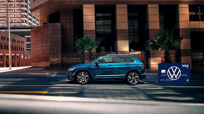 Tiguan kör på stadsgata - VW-kort