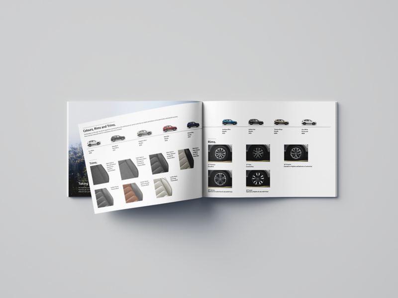 A 3D render of the Tiguan brochure