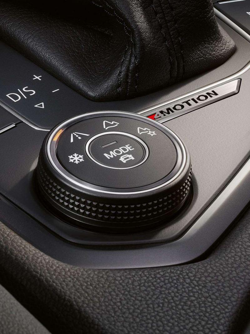 4Motion profile selector inside the Volkswagen Tiguan