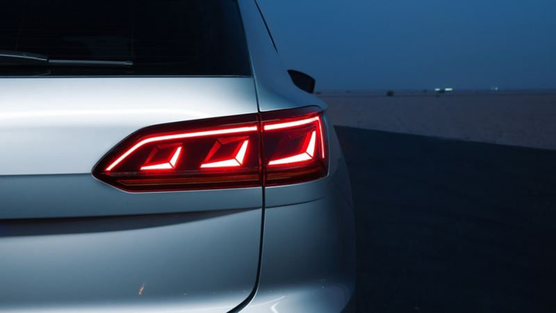 Closeup of the Volkswagen Touareg LED taillight