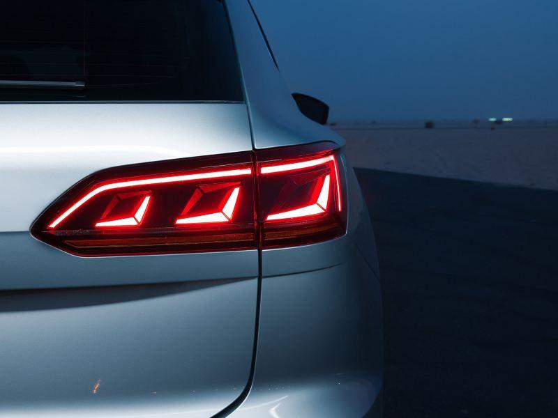 Closeup of the Volkswagen Touareg LED Matrix taillight
