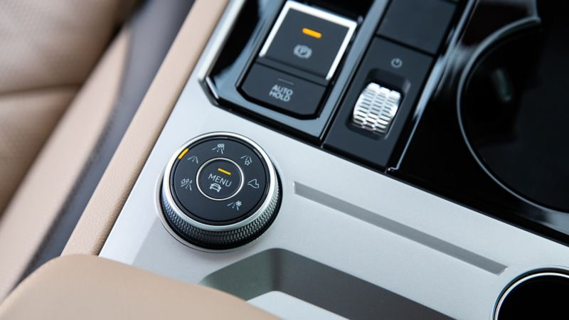 Drive profile select in the interior of the Volkswagen Touareg