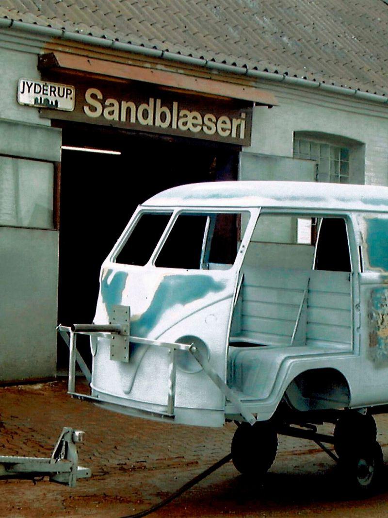 A Transporter Sofie desmontada.