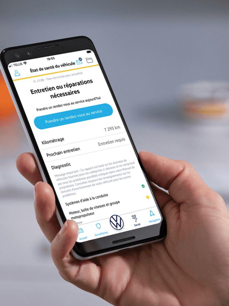 L'application Car-NetMD sur un téléphone