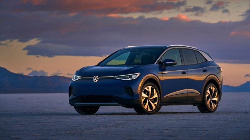 Diseño exterior del VW ID.4 azul