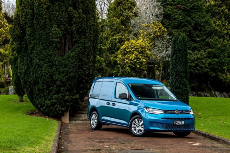 The new Volkswagen Caddy Cargo in use on a building site.