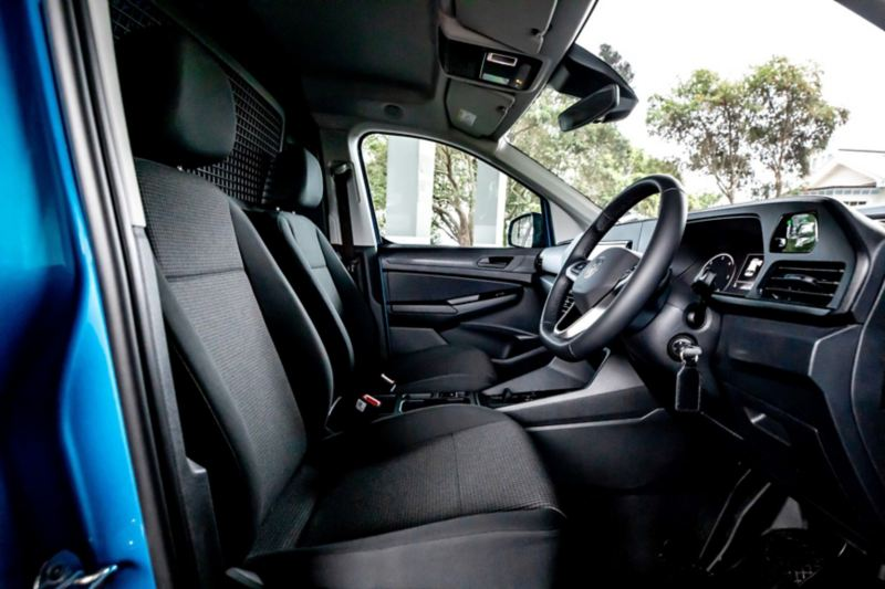The new Volkswagen Caddy Cargo from above.