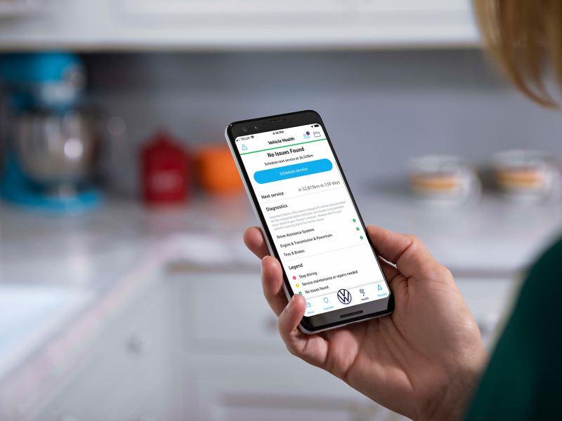 A Car-Net® app on a phone