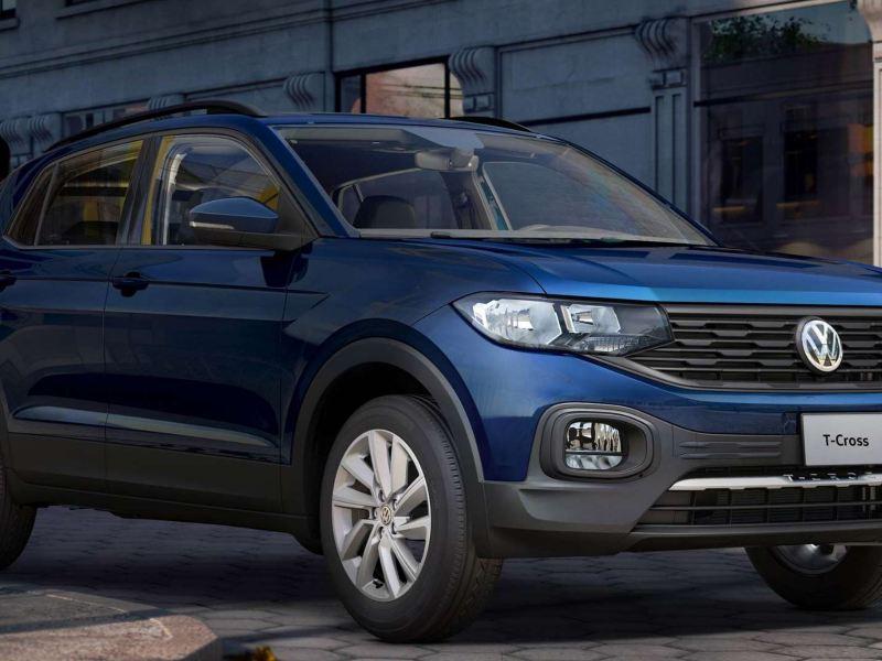 Imagen exterior de SUV Volkswagen T-Cross en promoción con Volkswagen