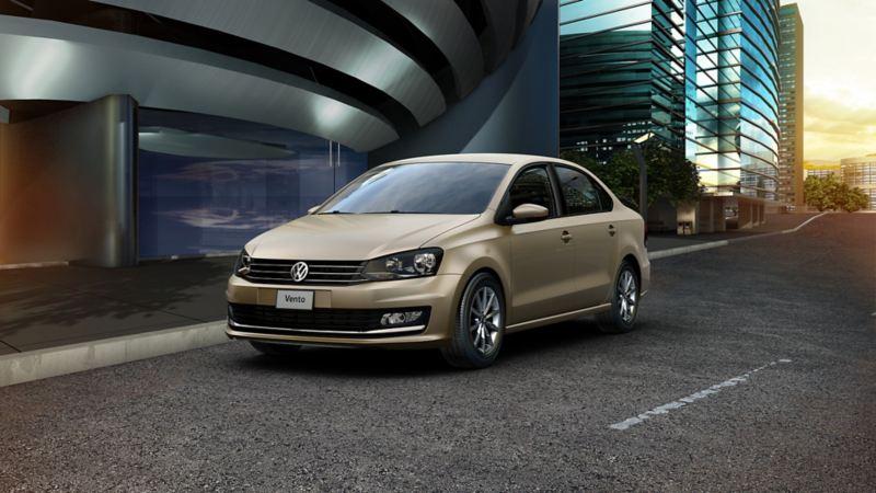 Vento dorado, modelo anterior Volkswagen