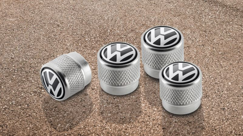 Volkswagen Genuine Valve caps with VW logo