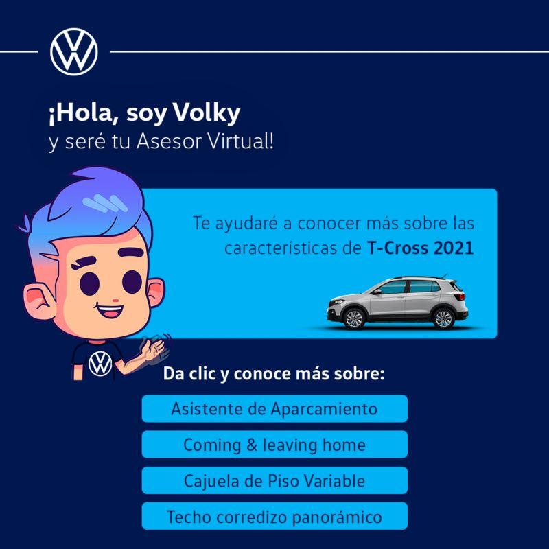 Con Volky podrás conocer todas las características de nuestras camionetas y autos VW desde tu celular.