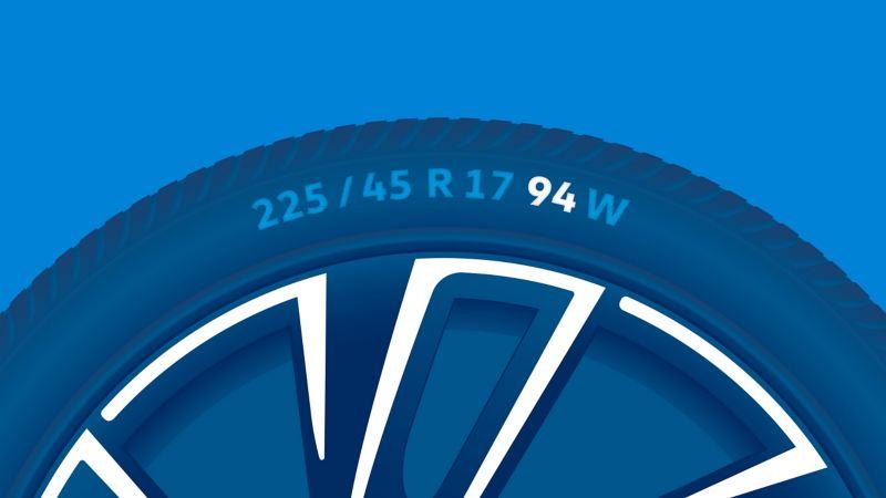 Illustration de l'étiquetage d'un pneu : indice de charge