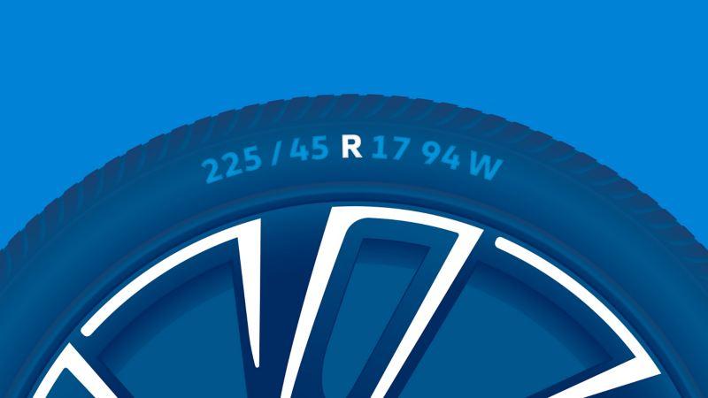 Illustration de l'étiquetage d'un pneu : type de structure