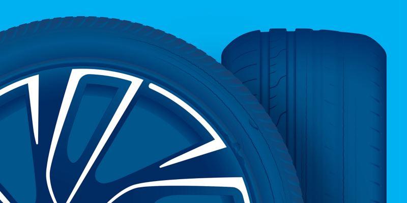 Illustration de dommages subis par un pneu : fissures, ruptures et zones poreuses