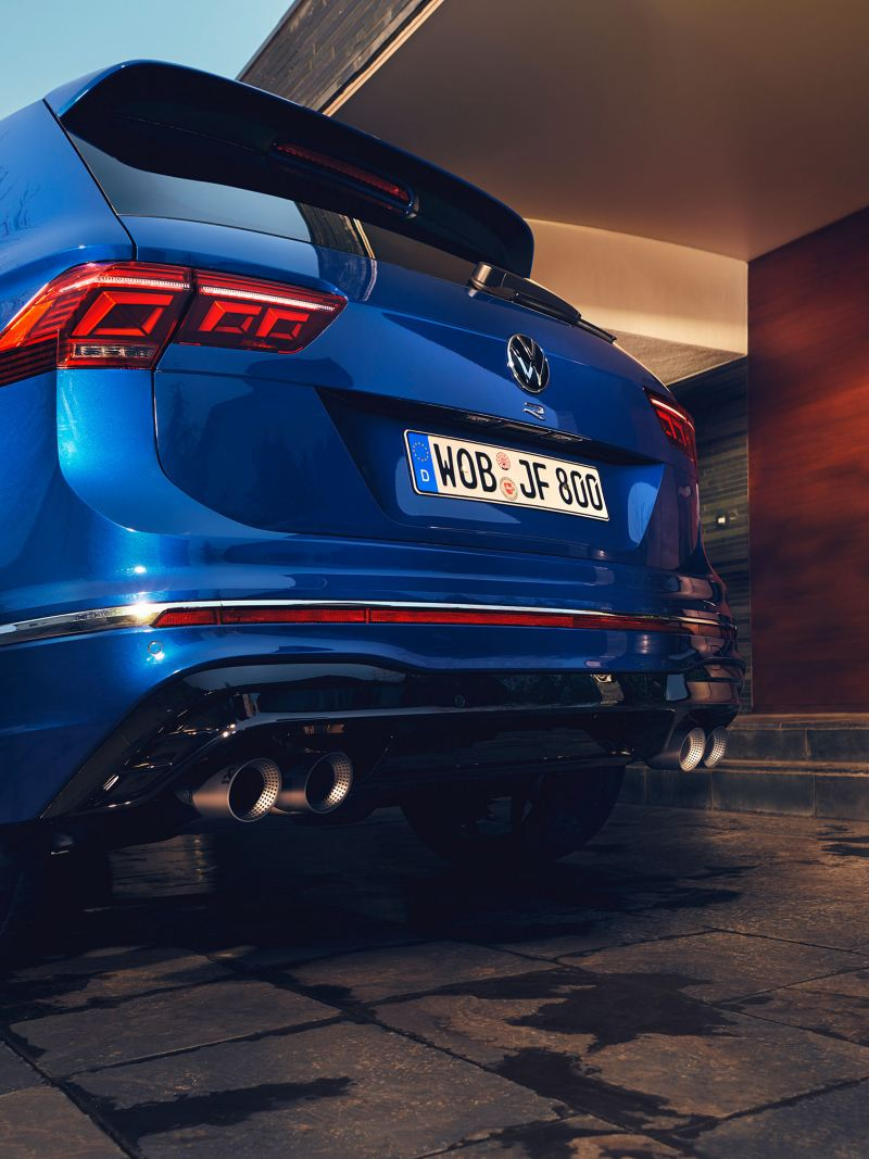 A rear view of the VW Tiguan R