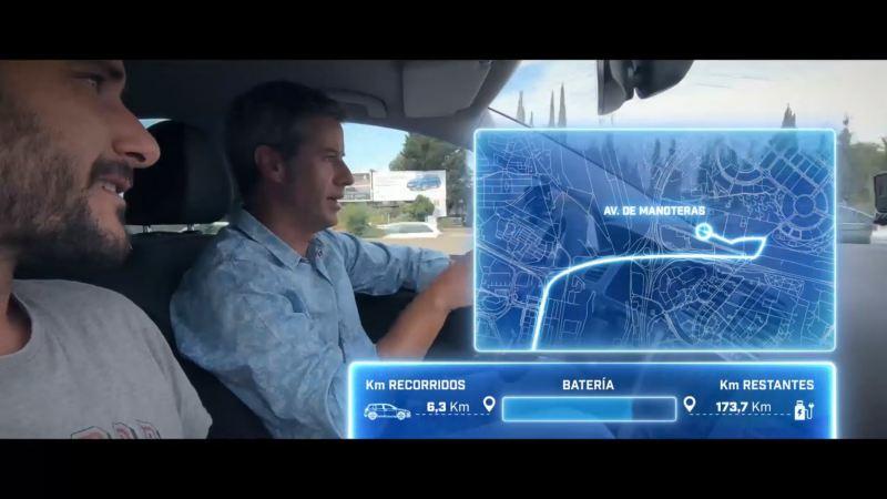 Secuencia del vídeo sobre la autonomía de los coches eléctricos de la serie Rompiendo mitos de Volkswagen