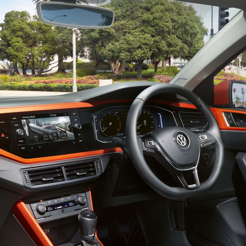 Interior of a Volkswagen car